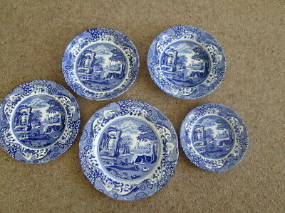 New Spode Italian Blue Dinner Plates Luncheon Plates Pasta Bowls Rimmed Dishes +