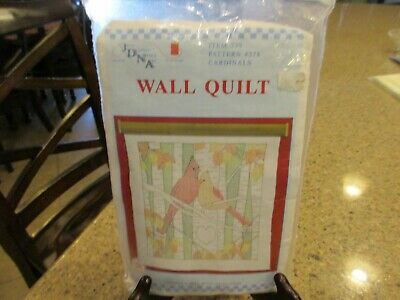 JDNA stamped embroidery Wall / Lap quilt kit CARDINALS  Pattern NO. 378