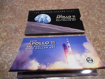 2019 Apollo 11 50th Anniversary 2 Coin  Proof Half Dollar set