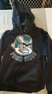 3348b951bde Philadelphia Eagles Angry Philly Birds Logo Black Pullover Hoodie Small S
