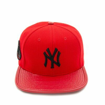 510c09cdb8c69 Pro Standard New York Yankees Logo Leather Strap Back (RED) FREE SHIP