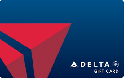 $50 Delta Airline Gift Certificate Card - Mail Delivery