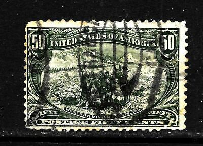 Hick Girl Stamp-Old Used U.s. Sc# 291  Western Mining Prospector       X5924