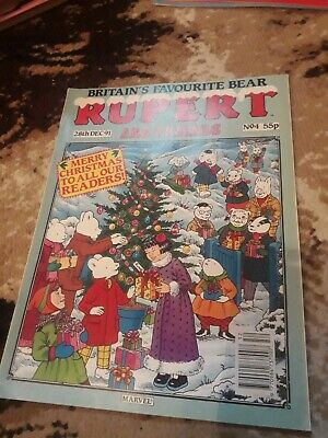 Rupert And Friends Comic Rare 28th Dec 91 Merry Christmas Issue No.4 Marvel