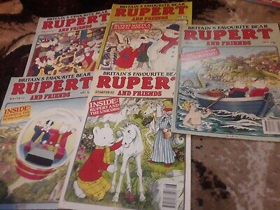 Rupert And Friends Comic 5 Issues No 5 6 7 8 9 From 1992
