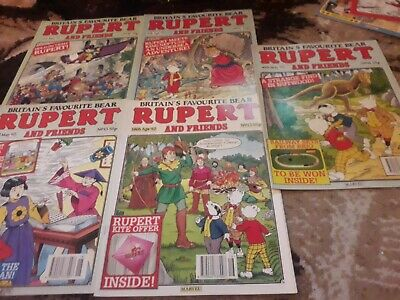 Rupert And Friends Comic 5 Issues No 10 11 12 13 14 From 1992