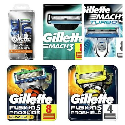 Gillette Fusion, Fusion Power, Pro Glide, Mach3, Turbo Razor Blades & Razor- NEW