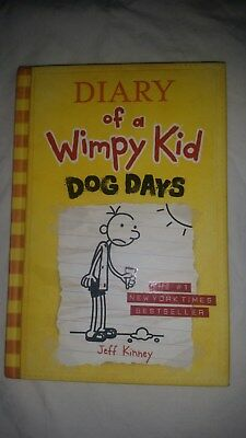 DIARY of a Wimpy Kid BOOK #4 Hardcover DOG DAYS 4 hc VG+++/LN gift quality BOOK