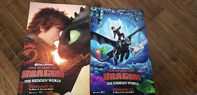 2019 How To Train Your Dragon The Hidden World Double Sided D/s Promo Poster