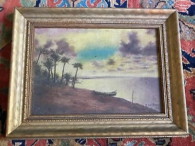 Vintag Oil Painting (Florida?) Signed Snell