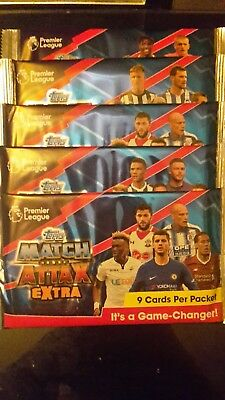 45 OFFICIAL Topps Match Attax Extra 2017/18 Trading Cards