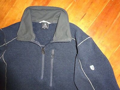 ad72c76dc76 KUHL INTERCEPTR 1 4 Zip Neck Fleece Sweater Jacket w  Thumb Holes Men s M