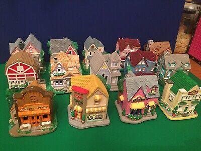 Painted Lot Of 14 Creative Crafts California Creations Spring Houses- Unsealed