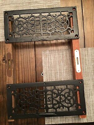 2- Antique Cast Iron Heat Registers, Very Detailed