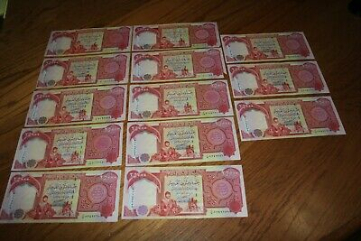 325,000 IQD - (13x) 25,000 IRAQI DINAR NOTES - AUTHENTIC CIRC - FAST DELIVERY