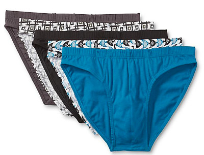 5 Pack Simply Styled Mens Low Rise Bikini Briefs by Sears. NEW Medium