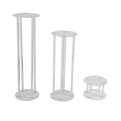 FOUR POST ACRYLIC PEDESTAL - Unique Clear Display Plinth Stand 3 Sizes Available