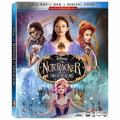 The Nutcracker and the Four Realms ( Blu-ray/DVD/Digital ) with Slipcover 2019