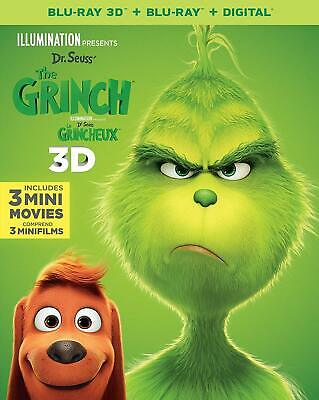 The Grinch 3D ( 2D/3D Blu-ray/Digital ) with Slipcover 2019