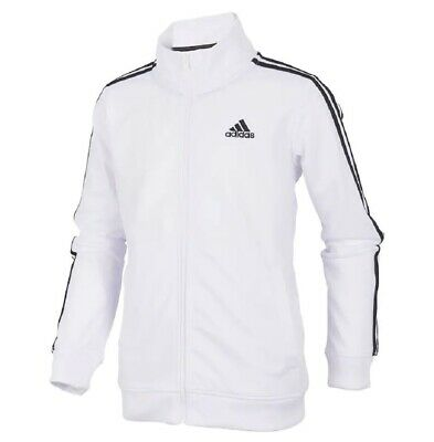 d5b6697fdc90 New Adidas Men s Essentials 3 Stripes Tricot Track Jacket~ Medium Dt7945  White