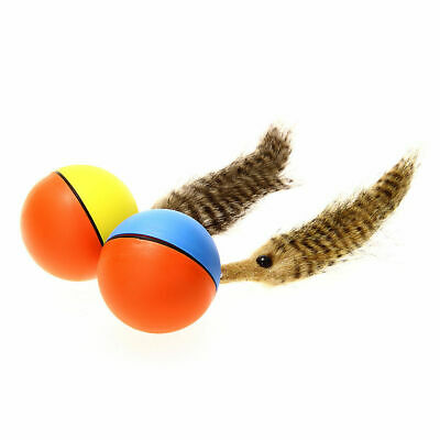 Pet Weasel Cat Dog Chew Rolling Alive Toy Ball Plush Motorized Water Jumping Toy