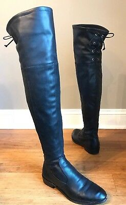 314ec8736a0 Vince Camuto Crisintha Over the Knee Back Lace Up Side Zip Boots Black Sz 8