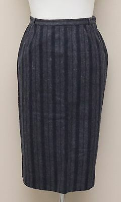 cacd4e907 Vintage Womens Size 8-10 Sportempos Grey Stripe Wool Pencil Skirt with  Pockets