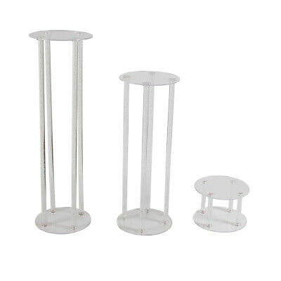 FOUR POST PEDESTAL - Clear Acrylic Unique Display Plinth Stand | 3 Sizes