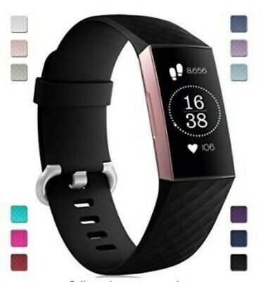 For Fitbit Charge 3 Strap Sports Wrist Band Silicone Replacement Small Large