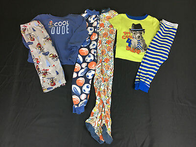 796b65c24624 Baby Boys 18-24 and 24 Months Carters Pajamas Sleepers Clothes Lot 4 Pair