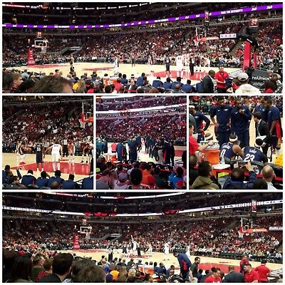 2 Chicago Bulls Los Angeles Lakers Tickets 3/12 Row 4 Behind Bench Aisle Lebron