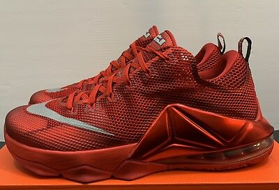 cd448645cbc1 Nike LeBron 12 Low  Red All Over  Basketball Shoes Men s Size 11.5 724557-