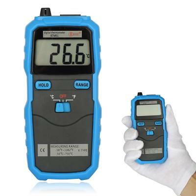 2-Channel Handhold K-Type BSIDE BTM01 Digital 1.77IN Temperature Thermometer WT