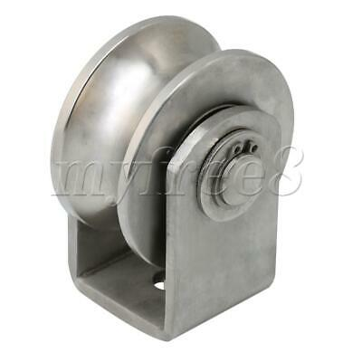 Medium Size U Type Roller Fixed Pulley for Circular Tube Track Sliding Doors