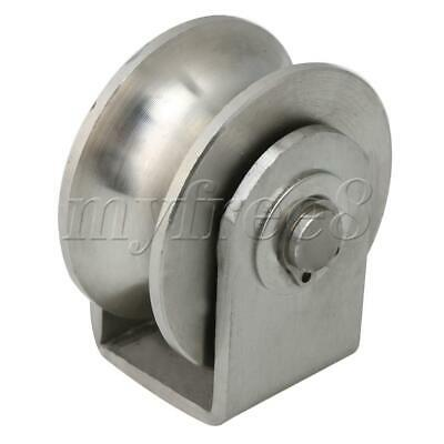 Small Size U Type Roller Fixed Pulley for Circular Tube Track Sliding Door