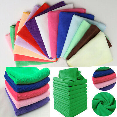 10 x Microfibre Cleaning Auto Car Detailing Soft-Cloths Wash Towel Duster tool