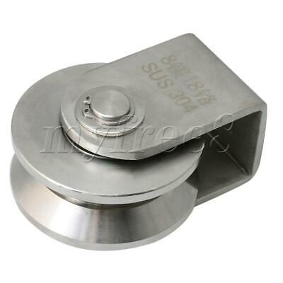 Stainless Steel Large Size V Type Rail Roller Fixed Pulley for Angle Rail