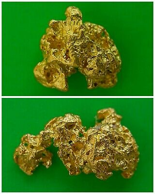 Two Natural Gold Nuggets 0.33g/0.37g High Purity Direct From Prospector