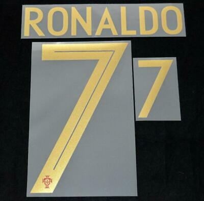 Portugal Ronaldo world cup 2018 Football Shirt Name Number Set Home Player  Size a42d48672