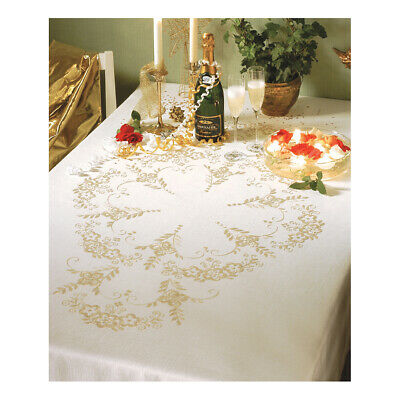 ANCHOR | Embroidery Kit: Festivas Party - Linen Tablecloth | 92400005730