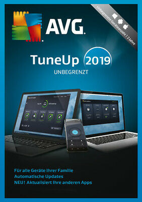 AVG TuneUp 2019 Unlimited Unbegrenzte Geräte / 24 Monate ESD Download Win,Mac