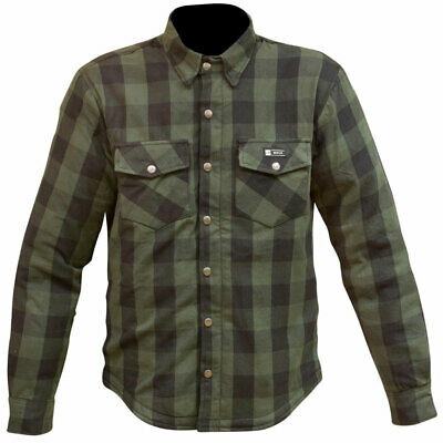 Merlin Axe Zip Up Shirt K.e.v.l.a.r Lined Motorcycle Summer Riding Shirt Green