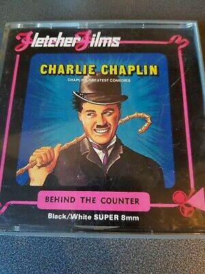 Charlie Chaplin 8mm film Behind the counter  Black and white film