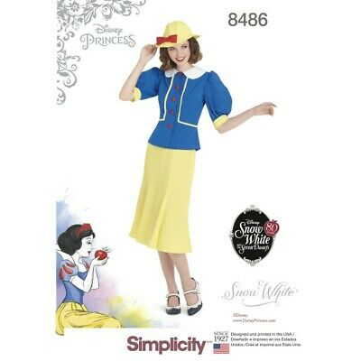 Simplicity Sewing Pattern 8486 Women's Vintage 1930s Inspired Snow White Costume