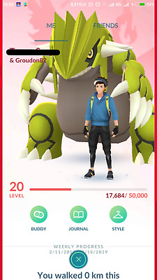 Pokemon Go Account Shiny Groudon, Palkia iv 98