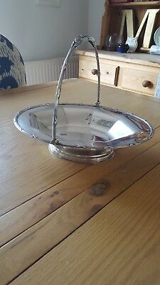 Beautiful Large Solid Silver James Dixon Basket Bowl
