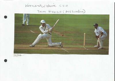 Worcestershire C.C.C Tom Moody signed colour magazine cutting. SSP505