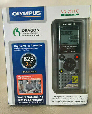 OLYMPUS vn-711pc DIGITAL VOICE RECORDER DICTAPHONE, 2GB (823hrs)