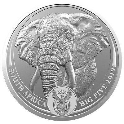 1 oz Silber The Big Five - 5 Rand Elefant 2019 Südafrika - Stempelglanz