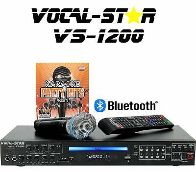 Vocal-Star VS-1200 CDG DVD HD Karaoke Machine With 2 Microphones and Top Party S